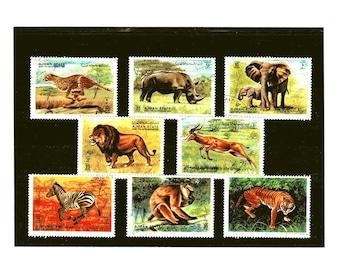 Wild Animal, Wildlife Postage Stamps - Ajman 1972