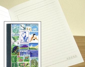 Summer Swim Notebook - Printed Pocket Postage Stamp Journal