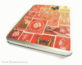 Fire Glow Stationery Tin - a6 postcards, notecards, pocket notebooks etc