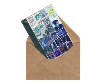 The Blues - Blank Inside Card • Tonal Blue Any Occasion Note Card