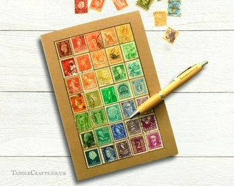 Rainbow Journal - A5 Definitive Stamp Album Notebook