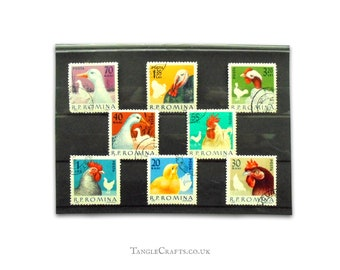 Domestic Poultry on postage stamps from Romania, 1963 - full set
