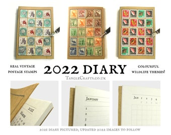 Wildlife Diary 2022, A6 Month to View Pocket Calendar