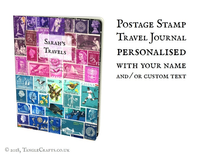 Featured listing image: Personalised Printed Travel Journal Notebook - Ruled Pages
