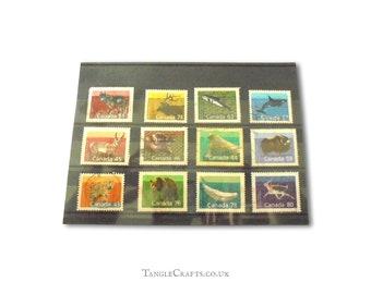 Canada Wildlife - used stamp selection circa 1988, 1989