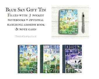 Happy Valley Stationery Gift Set - Storage Tin inc 3 pocket notebooks