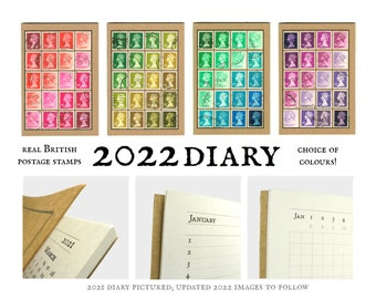 Machin Stamp Diary 2022 - a choice of tonal colour themes
