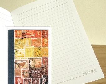 Sunset Notebook - Printed Pocket Postage Stamp Journal