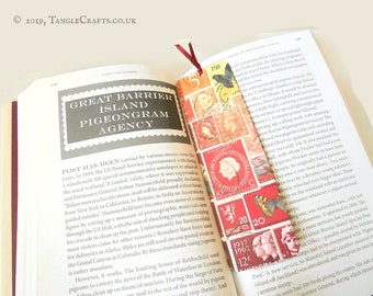 Fire Glow - Aluminium Bookmark with Postage Stamp Print