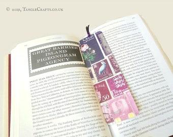 Heather Haze - Aluminium Bookmark with Postage Stamp Print