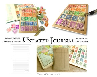 Stamp Album Travel Journal (A6) - choice of countries