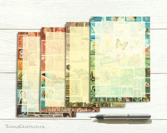 Landscape Series - Mixed Design Luxury Writing Paper Set with Labels