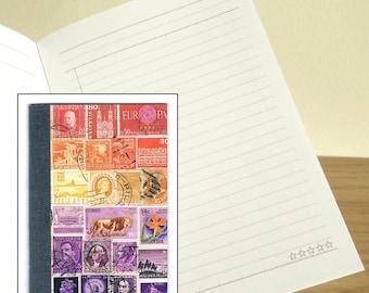 Sunset Lion Travel Notebook - Printed Pocket Postage Stamp Journal