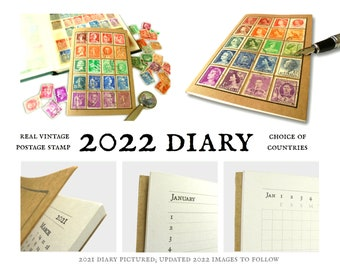Recycled Rainbow Pocket Diary 2022 - choice of countries