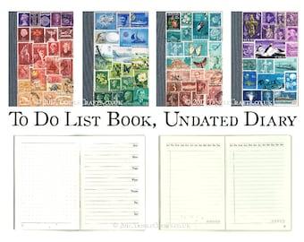 To Do List Book, Undated Free Journal - Custom Colour Choice