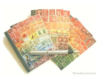 Sunset Skies Postage Stamp Notecard Set • Blank Inside Cards