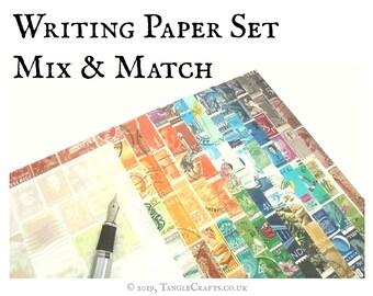Mix & Match Boxed Writing Paper Set • Luxury Postal Stationery