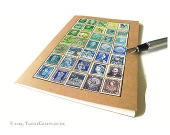 Blue Green Purple Ombre - A5 Definitive Stamp Album Notebook