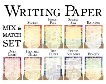 Mix & Match Luxury Letter Writing Paper Set •  Postage Stamp Stationery