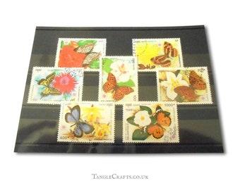 Butterflies & Garden Flowers - Cambodia 1991 Postage Stamp Set