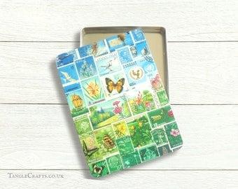 Happy Valley A5 Storage Tin - stamp art landscape print