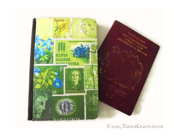 Spring Greens Passport Cover with optional matching travel tin