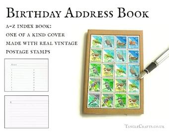 Japan Birds Address Book + Notebook, Real Vintage Stamps circa 1994