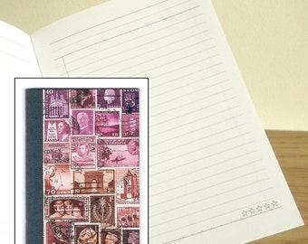 DuskLight A6 Notebook - Printed Pocket Postage Stamp Journal