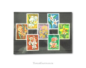 Orchid Flower Postage Stamps - Vietnam 1984, full set