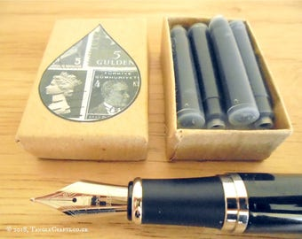 Add Box of Ink Cartridges for Fountain Pen - optional pouch & pen