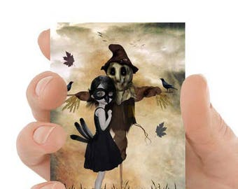 ACEO Card | Scarecrow  ACEO Card | Lowbrow Art | Artist Trading Card | ACEO Print | Unrequited Love