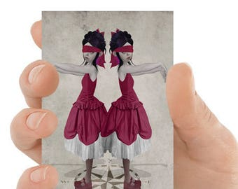 ACEO Card | Twin Sisters ACEO Card  | Artist Trading Card | ACEO Print | Blind Leading The Blind