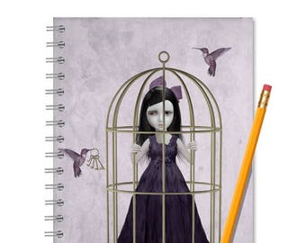 Journal | Notebook | Hummingbirds | Spiral Bound Journal | Jotter | Sketchbook | Softcover Notebook | Lined Or Blank | A5 Book | Cute Gift