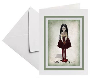 Bleeding Heart   Art Keepsake Card   Bloody Valentine   Gothic Style Card   Gothic Stationary   Take My Heart