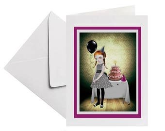 Birthday Card | Goth Girl Birthday | Gothic Girl Birthday | Card For Her | Blank Inside Card | It's My Party And I'll Cry If I Want To