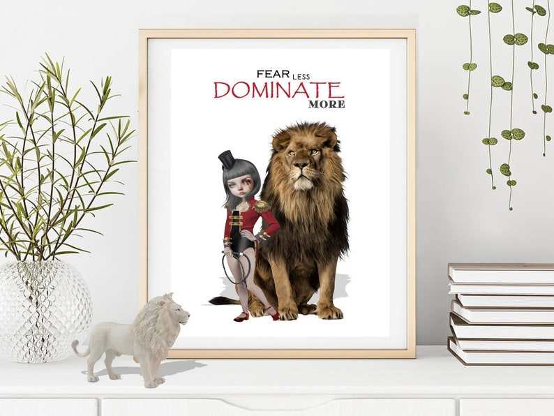 Inspirational Quote Dominate Quote Wall Art