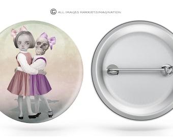 Button Pin | Button Badge | Pinback Button | Lowbrow | Art Button | Pop surrealism | Art Badge | Choose Badge size