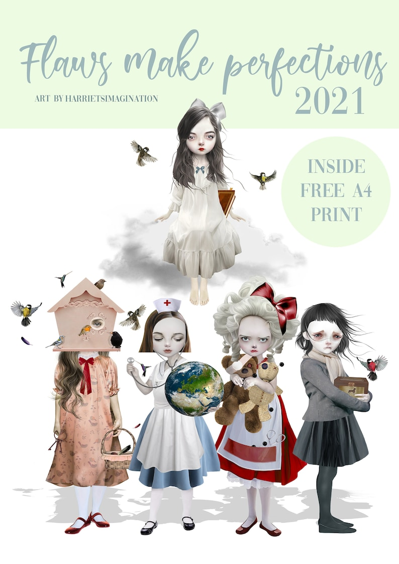 2021 Art Wall Calendar Plus Suprise A4 Print By image 0