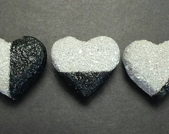 Concrete Heart Magnets Set of 3, Refigerator Magnets, Kitchen Decor, Office Decor, Kitchen Magnets, Office Magnets, Office Accessories, Gift