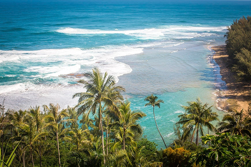 Hawaiian Fine Art Canvas Wrap Na Pali Coast Kauai Hawaii Ke E Beach
