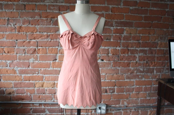 Vintage, Pink Catalina Swimsuit, 40's, 50's