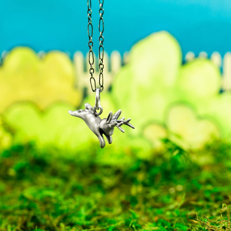 Behold A Jackalope Necklace The Incredible Handmade Little image 0