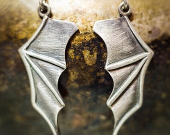 Bat Wing Earrings in Silver or Bronze. Flying Fox Earrings for Foxy People.