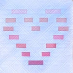 Dashed Heart Quilt Pattern | Quilting Pattern | Mini Quilt Pattern | Beginner Quilter Tutorial | Modern Quilt Pattern | Wall Hanging Pattern