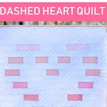 Dashed Heart Mini Quilt Pattern | Quilting Pattern | Mini Quilt Pattern | Beginner Quilter Tutorial | Modern Quilt Pattern | Wall Hanging Pa