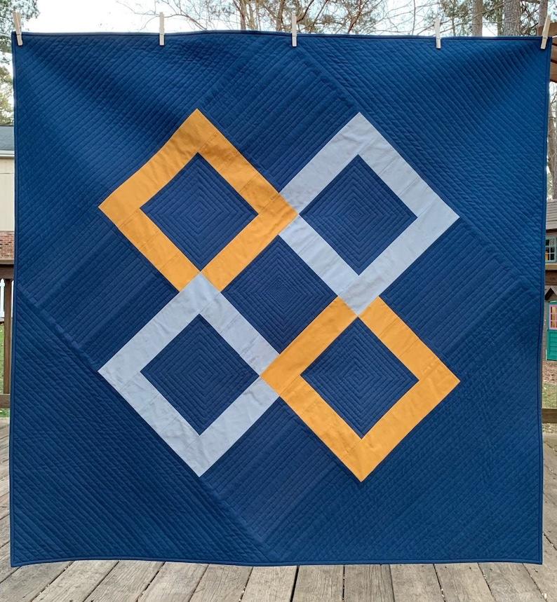 Woven Diamonds Quilt Pattern  Modern Quilting Pattern  image 1
