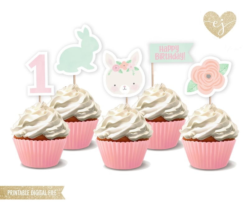 photograph relating to Printable Cupcake Toppers titled Bunny Cupcake Toppers, Printable Cupcake Toppers, Bunny Birthday, Birthday Cupcake Toppers, Somebunny is one particular, Somebunny bash decor