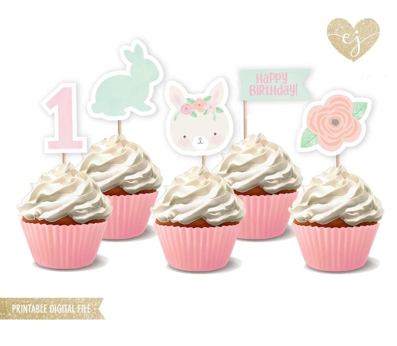 photo regarding Printable Cupcake Toppers named Bunny Cupcake Toppers, Printable Cupcake Toppers, Bunny Birthday, Birthday Cupcake Toppers, Somebunny is a single, Somebunny social gathering decor