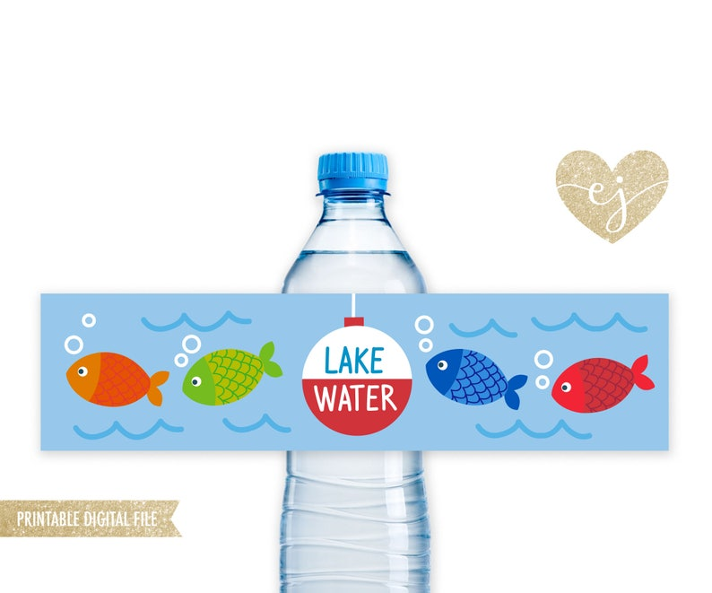 photo regarding Printable Bottle Labels titled Fishing Drinking water Bottles, Printable Bottle Labels, Fishing Birthday Decor, The Significant Just one, Printable Fishing Bottle Labels, Lake Drinking water Stickers