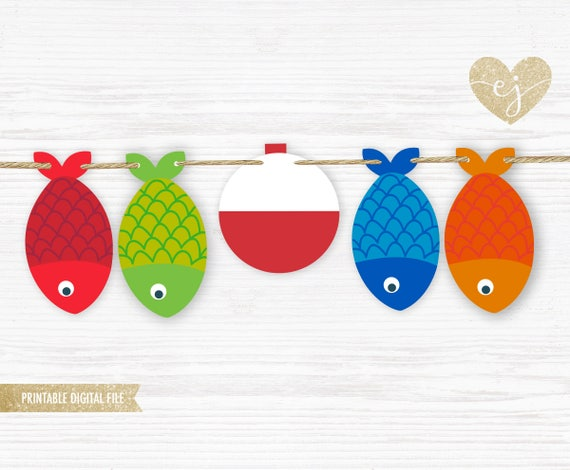 photo about Printable Fishing named Fish Birthday Banner, Fish Banner, Printable Fishing Banner, Birthday Banner, The Large 1 Banner, Fishing Birthday Banner